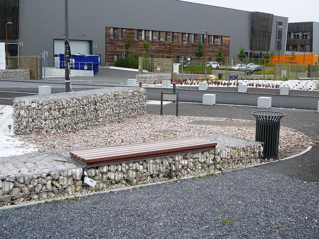 aménagement urbain et utilisation de gabions