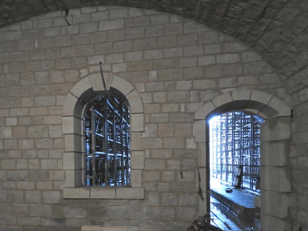 Salle d'affinage en pierre
