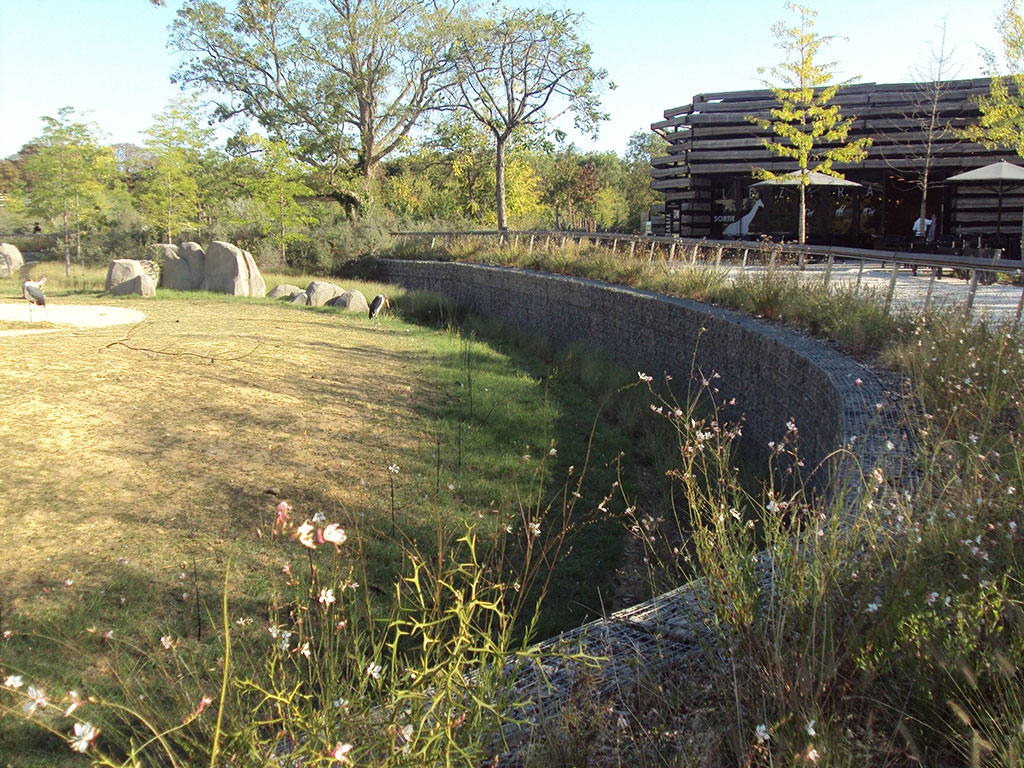Gabions et espaces verts zoo de vincennes