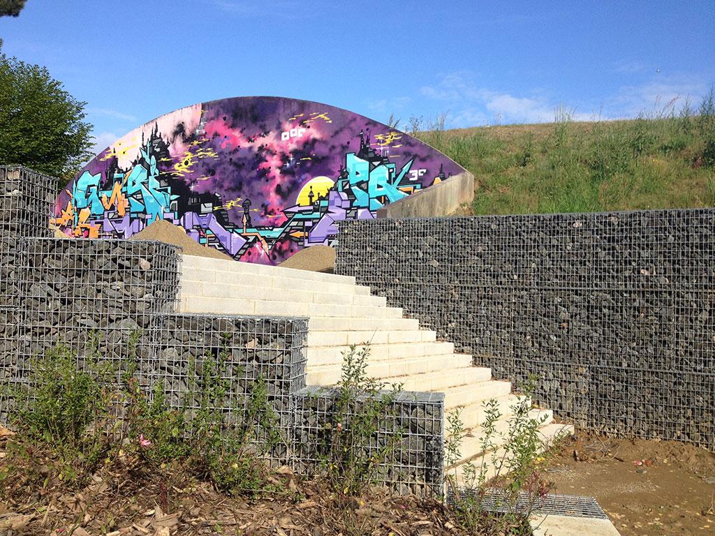 Gabions stonebox pour l'aménagement paysager