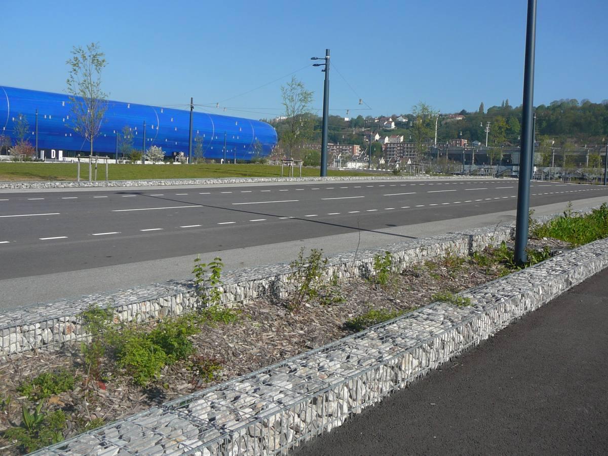 Le Havre stade gabion mobile