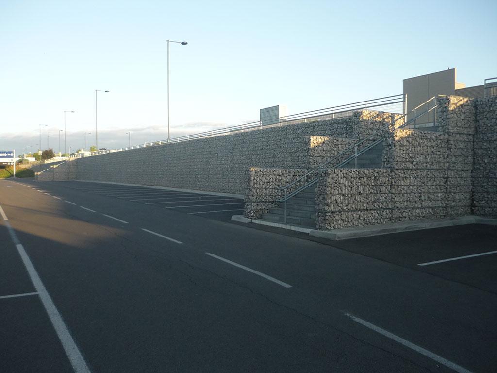 Mur en gabions à quetigny