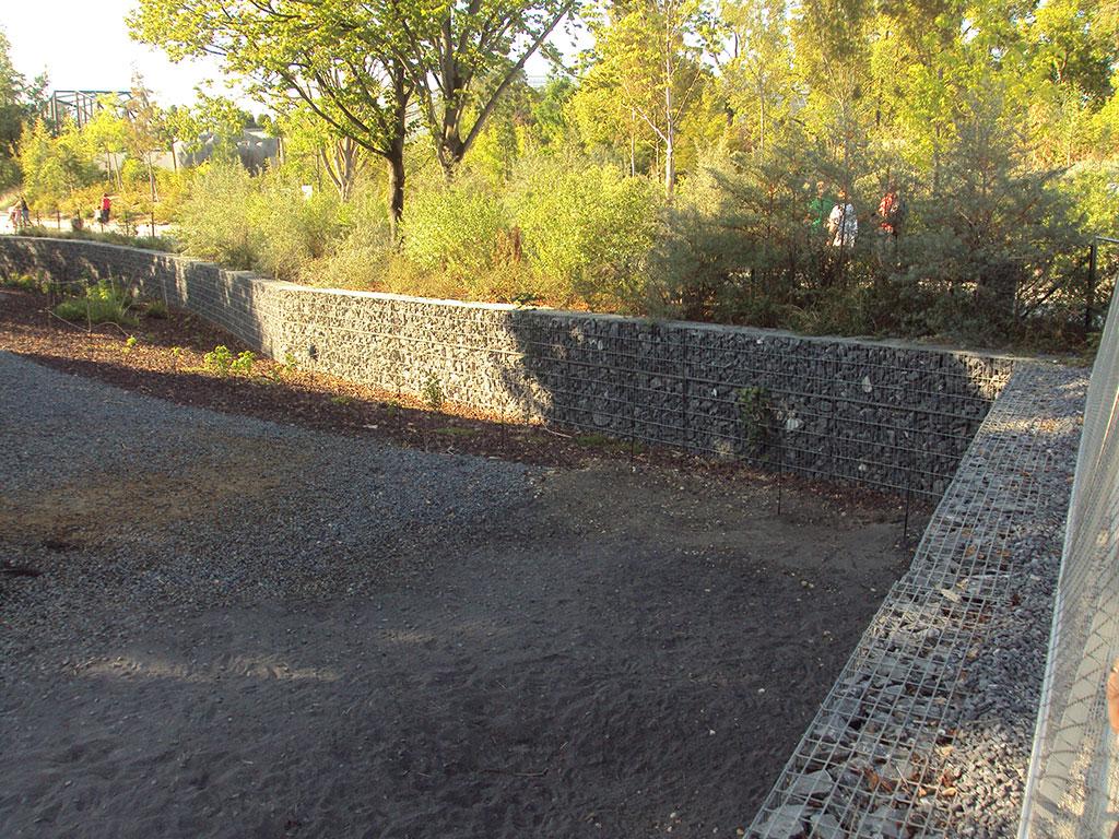 Murets en gabions stonebox au zoo de vincennes