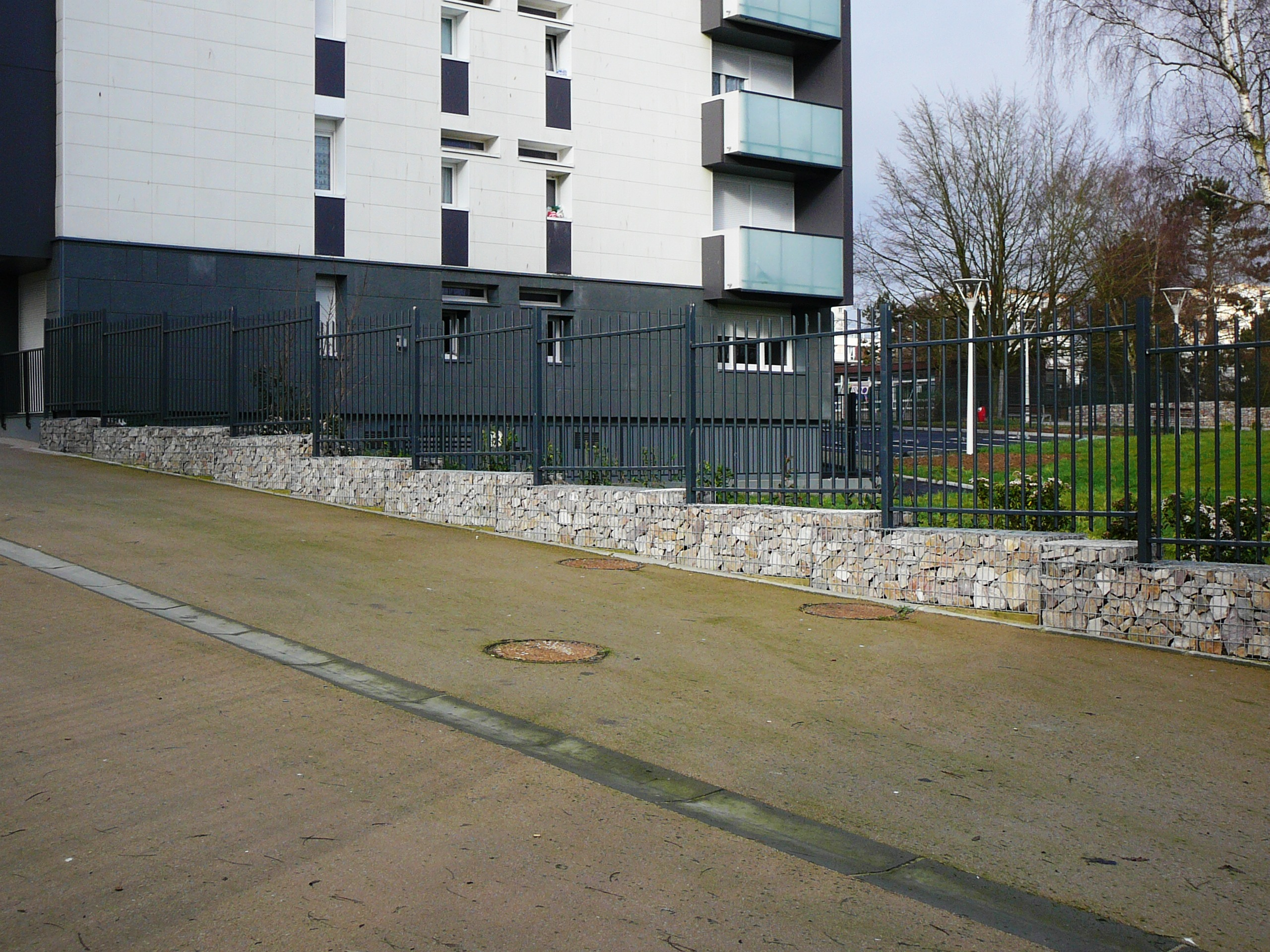 gabions remplissage in situ