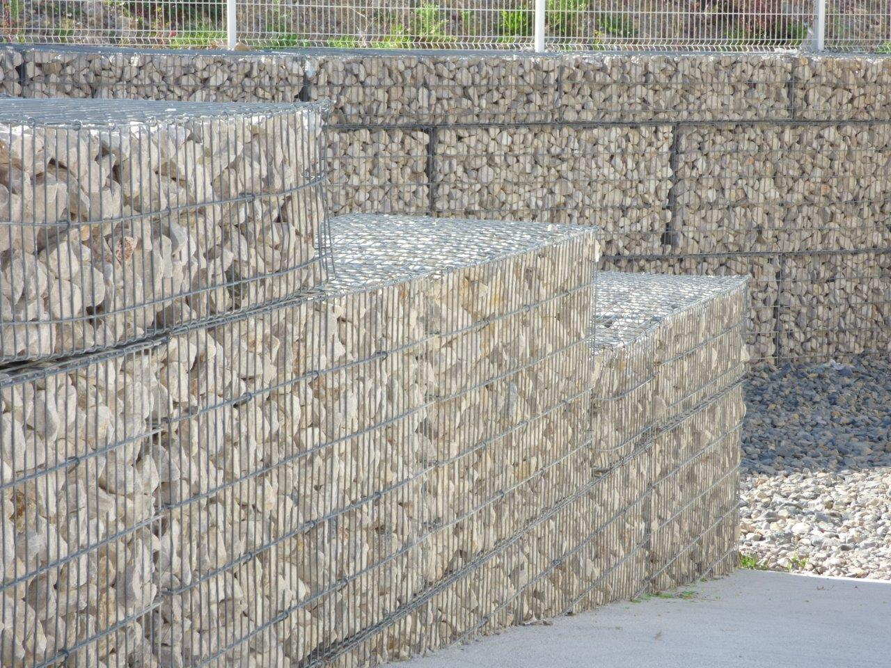 gabion stonebox soutènement descente baillargues formation setp