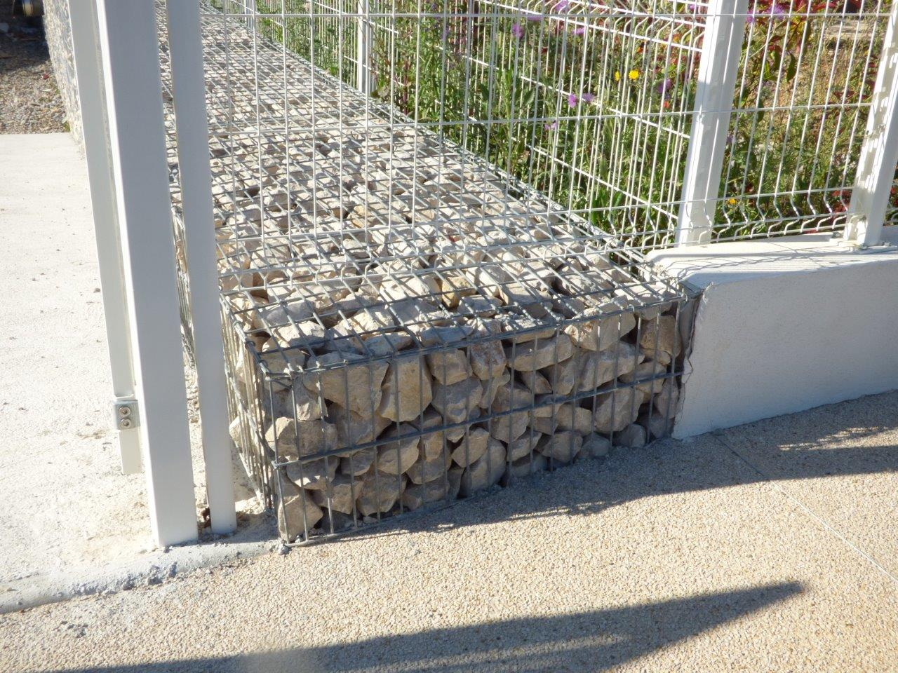 gabion stonebox mur vue trottoir baillargues formation setp