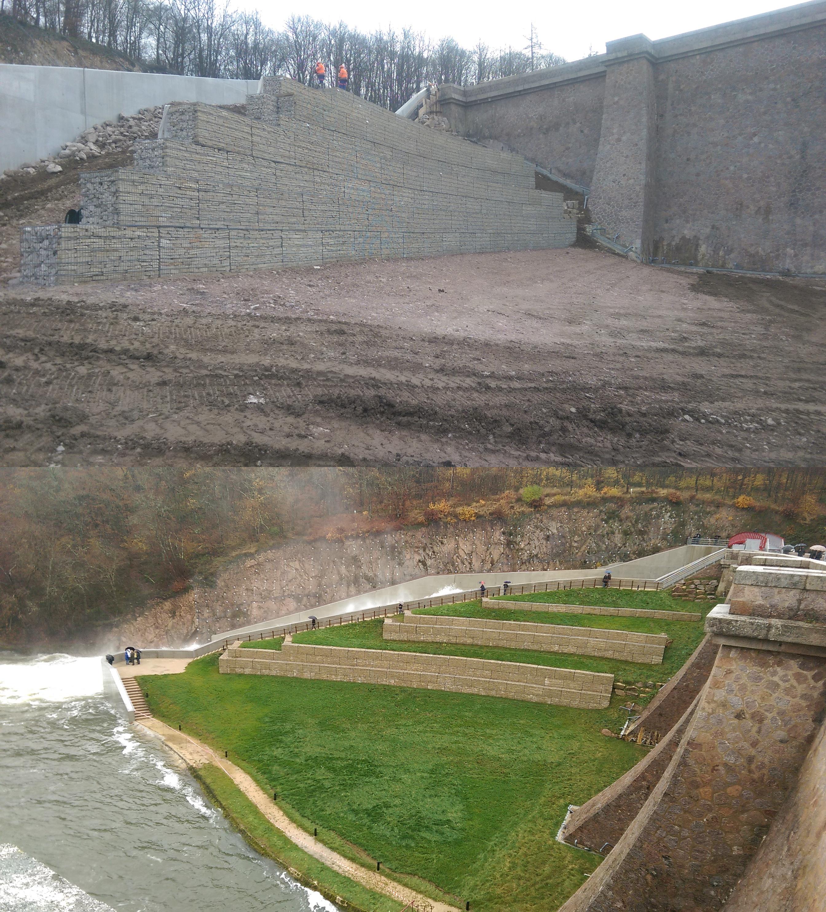 pont et massène barrage mur soutènement appareillage gabion SETP 2016