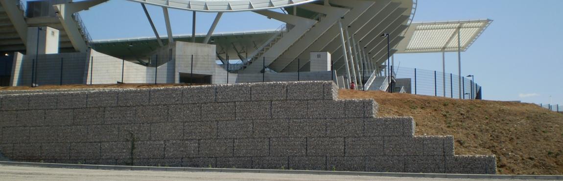gabion STONEBOX stade Montpellier