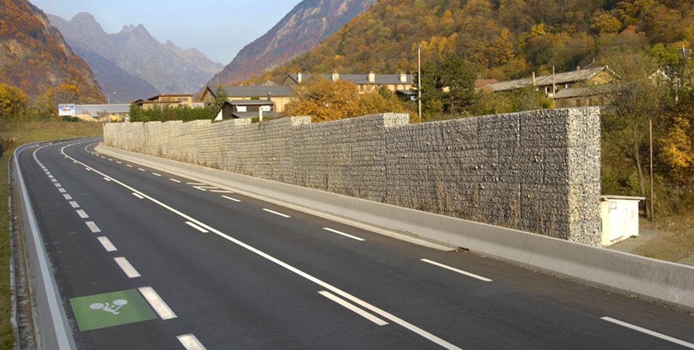 Aménagement routier en gabions STONEBOX®