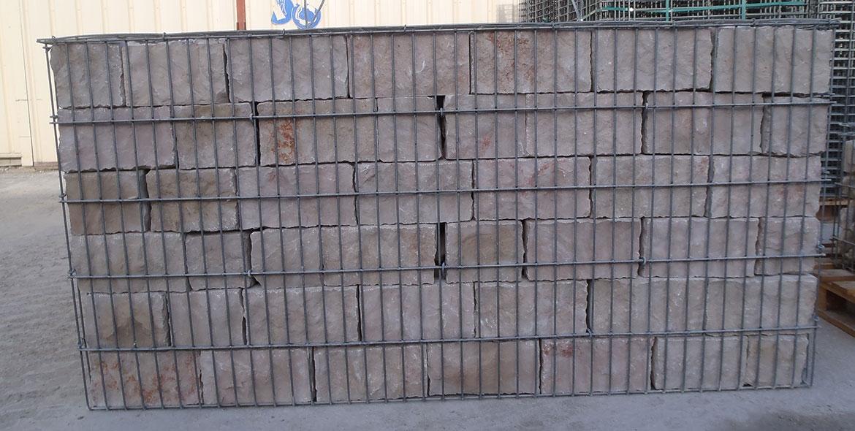 Appareillage en moellons de calcaire de Comblanchien
