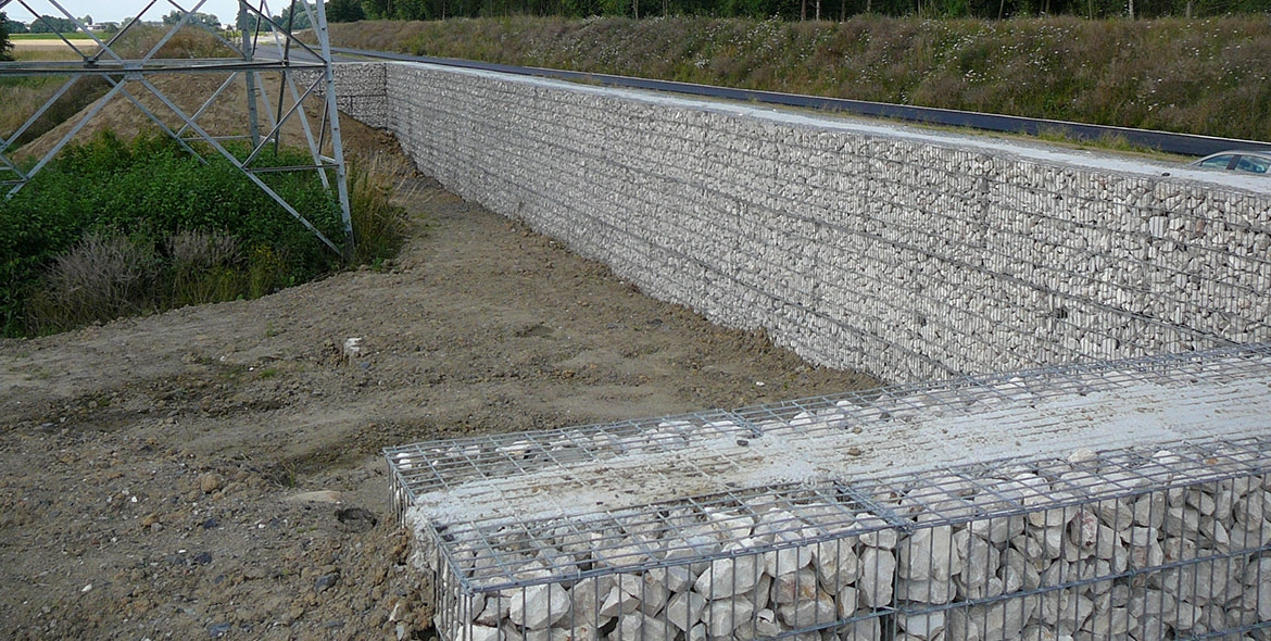 Mur antibruit gabions for Moquette anti bruit