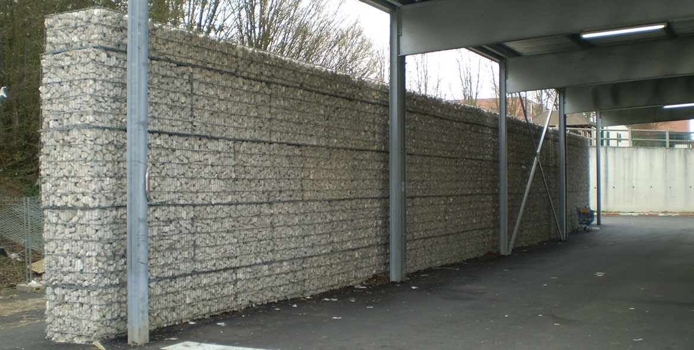 Mur en gabions