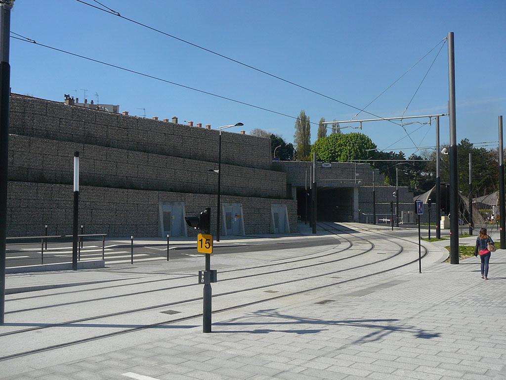 tunnel Jenner au Havre structure en gabions stonebox